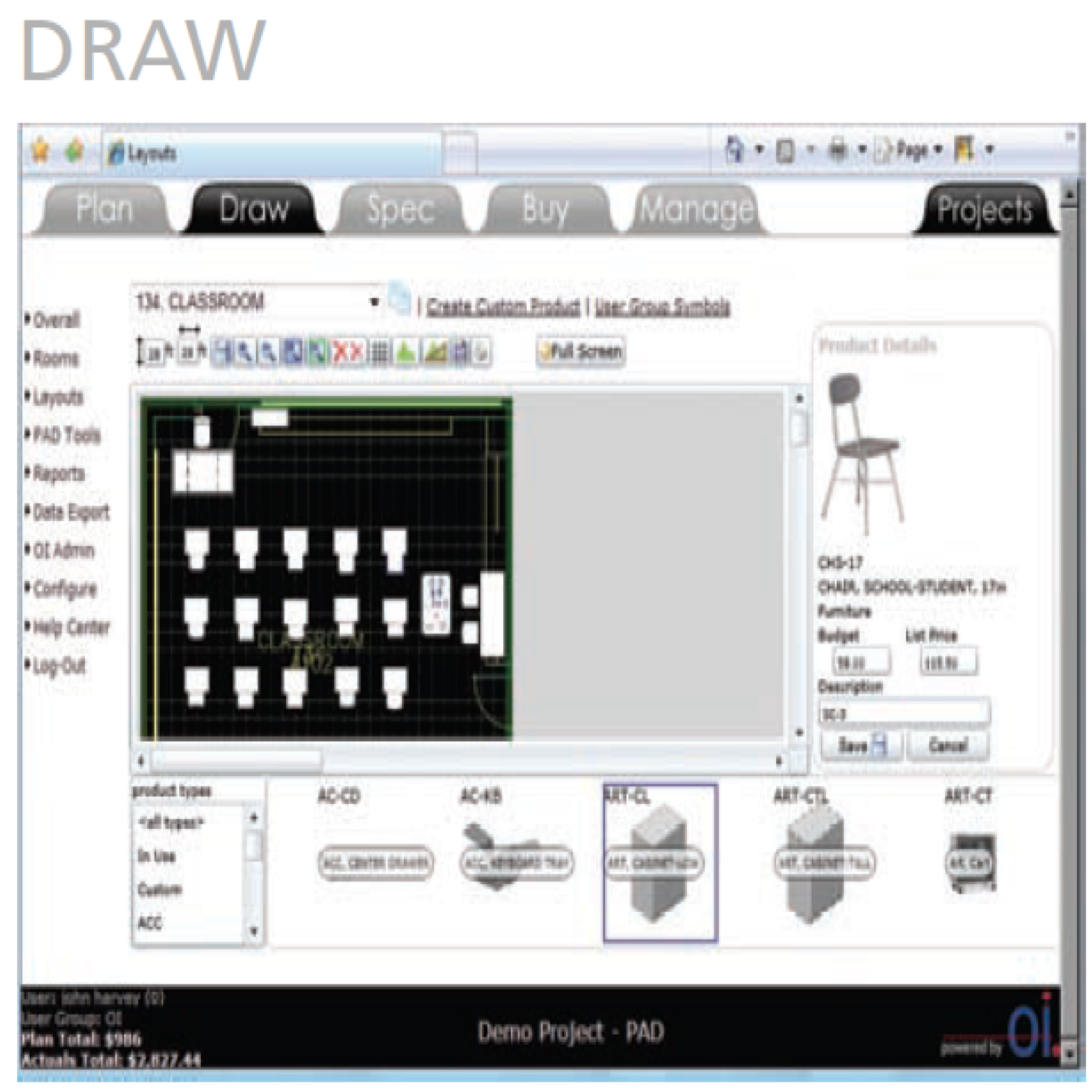 Draw2Spec™ Modules | FF&E Interior Design | FF&E Software