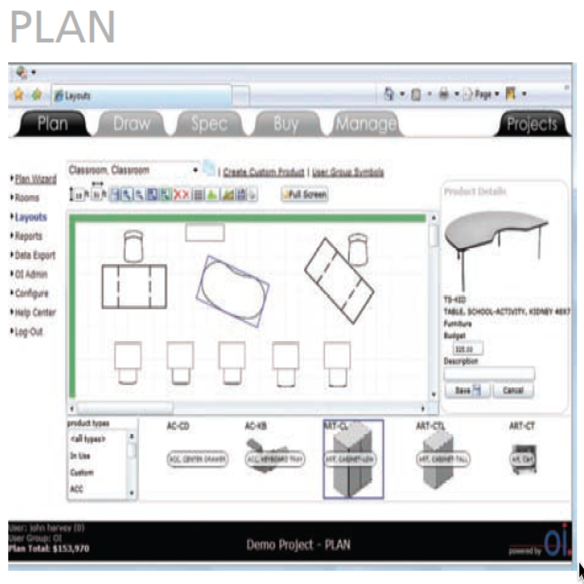 The PLAN MODULE Provides A Unique Room Planning And Project Budgeting Tool Our Drag Drop Design Environment Wizard Library Allow Users To
